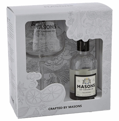 1. Masons 20 cl & Copa Glass Gin Gift Set