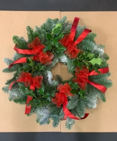 Red Bows Wreath